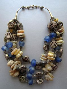 african amber, old brass and trading glass  SARAGAYART.com