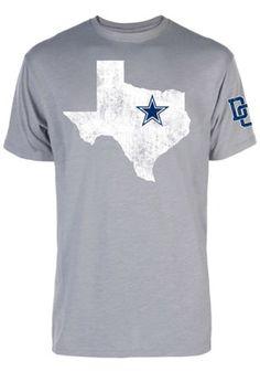 Cowboys Mens Grey Texas Star Slub Fashion Tee