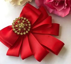 Ribbon Jewelry, Ribbon Hair Bows, Fabric Jewelry, Brooch Corsage, Paper Quilling Patterns, Women Bow Tie, Boutique Bows, Brooches Handmade, Jewelry Making Tutorials
