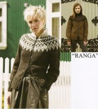 RANGA - islandsk sweater m lynlås Crochet Rug Patterns, Knitting Patterns, Crochet Cardigan, Knit Crochet, Girls Sweaters, Kobe, Knitwear, Fur Coat, Men Sweater