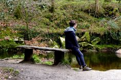 Down on the river, Lanhydrock Cornwall
