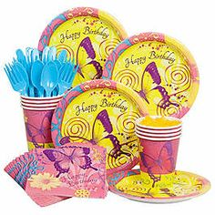 Butterfly Birthday Economy Box Serves 8 Guests $10.78 Our Price: $7.19