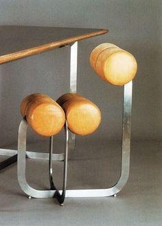 thedesignwalker:  Henri Gaudin; Leather and Metal Chair, 1970.: Gaudin 1970, Interior, 312 434 Pixels, 1970 Дизайн, Furniture Homeware, Interesting Furniture, Furniture Design