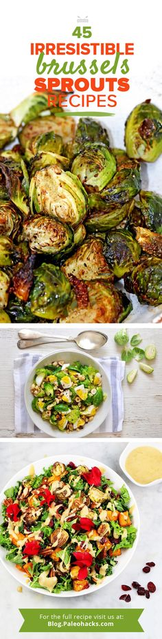 Brussels Sprout lovers, we know who you are - Modify by substituting animal products to make vegan! Real Food Recipes, Vegetarian Recipes, Cooking Recipes, Healthy Recipes, Vegetarian Lifestyle, Healthy Dishes, Healthy Foods, Yummy Recipes, Sprout Recipes