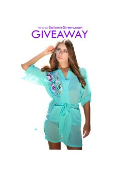 The Naked Robe at Salomé Sirens Giveaway. 3 users with the most repins will win 1 of 3 Zelda Designer Robe.  www.SalomeSirens.com Bridal, lingerie, Bali, intimates, bridesmaid, wedding, sleepwear, designer lingerie. Pinterest Giveaway. Winners Announced Sept 23!