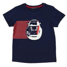 Aston Martin Boys Navy T-Shirt with Car Print