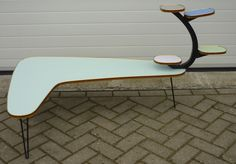 50's boomerang multilevel table  www.royalcrown.nl SOLD