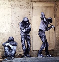 """Open Doors"" by Levalet in Paris, 3/15 (LP) #streetart jd"