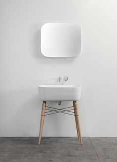 it looks very nice (i'd actually buy the mirror), but usability was sacrificed for clean-ness: within a week you'll have stains at the wall.