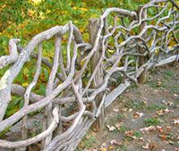 driftwood fencing