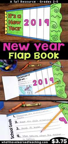 Ring in the New Year by having students reflect on their best moment in the previous year and set personal and academic goals for the New Year. This flap book gives students an opportunity to set meaningful SMART goals during the first couple weeks back a New Years Activities, Holiday Activities, Writing Activities, Classroom Activities, Classroom Ideas, Classroom Helpers, Superhero Classroom, Teacher Helper, Classroom Organisation