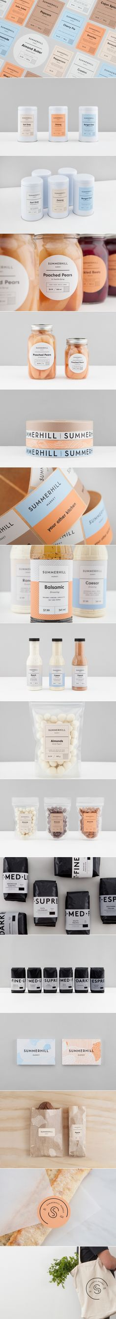 Summerhill Markets Fresh Contemporary Branding The Dieline Packaging Branding Design Innovation News Web Design, Design Food, Logo Design, Label Design, Identity Design, Typography Design, Layout Design, Lettering, Package Design