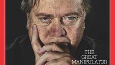 "Time magazine, in an issue that hits the stand Friday, asks whether Trump's chief strategist Steve Bannon is ""the second most powerful man in the world."" Perhaps. He might also be one of the most sinister, if the latest cover is any indication."