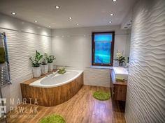 Modern Bathroom Design, Bathroom Interior Design, False Ceiling Living Room, Swimming Pools Backyard, Corner Bathtub, Small Bathroom, Sweet Home, New Houses, Border Tiles