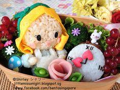 Bento Singapore by Shirley 楽しくてお弁当とキャラベン: Alice in Wonderland Bento 不思議の国のアリスのキャラベン