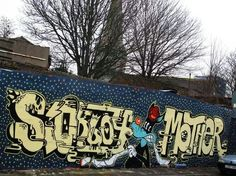 Sickboy is a street artist from Bristol, UK, known for his temple logo and his 'Save the Youth' slogan. It is claimed Sickboy was one of the first UK graffiti artists to use a logo instead of a 'tag'. Temple Logo, Sick Boy, Street Artists, Bristol, Contemporary Art, British, Urban, Design, Walls
