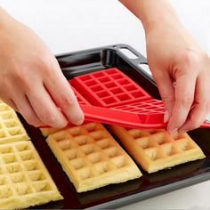 1 X Safety 4-Cavity Waffles Cake Chocolate Pan Silicone Mold Baking Mould Cooking Tools Kitchen Accessories Supplies (1 X Safety 4 Cavity Waffle mold) * Check out this great image  : Muffin and Cupcake Pans