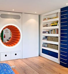 16. Build a porthole/tunnel into the wall to connect two rooms.