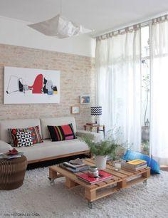 DIY: Saiba como fazer uma parede de tijolo lavado. Receita lá no Blog Midá. Corre lá!