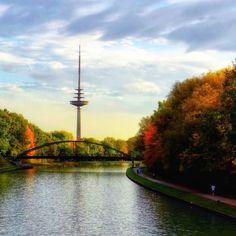 Bunte Aussicht :) der herbstliche Dortmund-Ems-Kanal in Münster