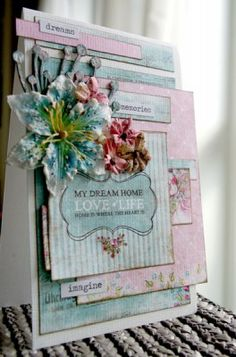 Card with gorgeous colors from Vibeke Spigseth - Poppydesign and Panduro