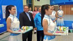 #YOGshooting medal ceremony: Women's 10m Air Pistol 1-Agata Nowak (POL 196.9) 2-Lomova (RUS 194.4) 3-Kim (KOR 175.4)