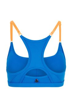 Update your fall activewear with this colorful low impact sports bra - perfect for yoga & pilates workouts.