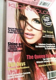 Eyeshadow & Blush Makeup Magazine Palette with Mirror by Kleancolor Trend Issue http://www.bonanza.com/listings/Eyeshadow-Blush-Makeup-Magazine-Palette-with-Mirror-by-Kleancolor-Trend-Issue/206649487