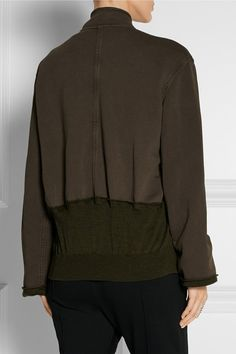 Haider Ackermann   Paneled cotton-jersey jacket   NET-A-PORTER.COM