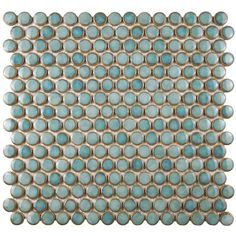 SomerTile 12.25x12-in Penny 3/4-in Marine Porcelain Mosaic Tile (Pack of 10) - Overstock Shopping - Big Discounts on Somertile Wall Tiles
