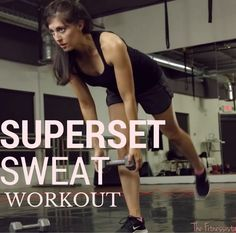 Superset Sweat Workout - The Fitnessista At Home Workouts For Women, Workout Routines For Women, Workout Schedule, Killer Workouts, Fun Workouts, Body Workouts, Fitness Diet, Health Fitness, Fitness Fun