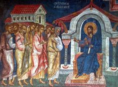 """BLAGO : Decani : 50 Jesus to Simon Peter: """"Feed my sheep"""" (third appearance to the apostles) Feed My Sheep, Simon Peter, Life Of Christ, Blessed Mother Mary, Byzantine Icons, Good Deeds, Conversation, Mystery, Religion"""