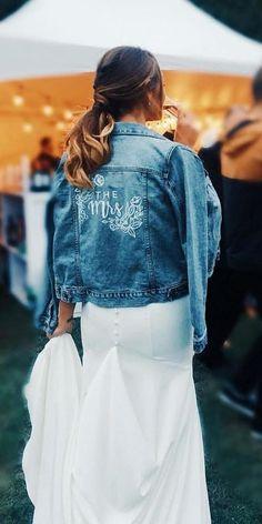 Hottest Trend 2019: 18 Wedding Jackets ❤ wedding jackets denim with signature madewithlovebridal #weddingforward #wedding #bride #weddingjackets