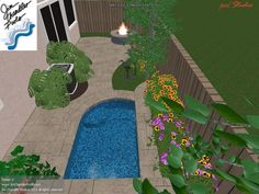 Pool patio makeover small yards 60 ideas for 2019 Pools For Small Yards, Backyard Ideas For Small Yards, Small Swimming Pools, Swimming Pools Backyard, Swimming Pool Designs, Small Backyard Landscaping, Desert Backyard, Backyard Layout, Luxury Landscaping