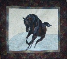 horse artquilts, TeaRose Quilt Designs, collectable artwork in the Berkshires, specializing in horse quilts, great gifts, wearable art scarves, designs from nature Gallery II