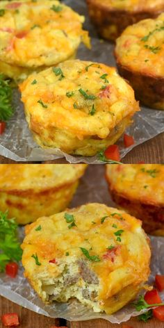 These Egg Muffins are only 144 calories, take 10 minutes of prep time, and are perfect for freezing and reheating! A great breakfast on the go! in muffin tin Cheese and Sausage Egg Muffins Sausage Egg Muffins, Sausage And Egg, Keto Egg Muffins, Omlet Muffins, Scrambled Egg Muffins, Frittata Muffins, Savory Muffins, Turkey Sausage, Breakfast Dishes