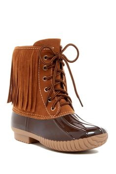 http://www.fashiontrendstoday.com/category/duck-boots/ Dylan Fringe Duck Boot by Yoki on @nordstrom_rack