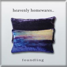 …the 'Isle of Skye' cushion in silk velvet - the legendary northern lights in the Hebrides..