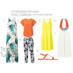 """""""Tropical Tuesday"""" by whattheteacherwears on Polyvore"""