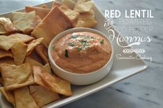 Red Lentil and Roasted Red Pepper Hummus | Sarcastic Cooking