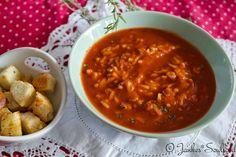 vegane Tomaten-Reissuppe