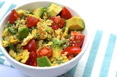 Scrambled Eggs Salade zonder ingrediënten die suiker bevatten. #suikervrij
