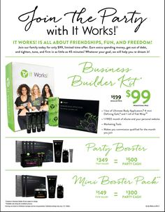 $99 could change your life! Let me help you get the party started and get you making money. www.MillionaireMermaid.ItWorks.com