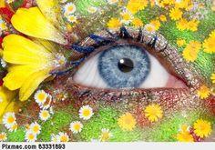 eye makeup flower art