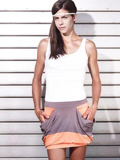 Streetwear skirt - eisbörg Rock Whippy orange - ein Designerstück von eisboerg bei DaWanda