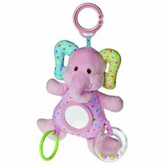 "Mary Meyer Ella Bella 9"" Elephant Activity Toy by Mary Meyer. $13.68. From the Manufacturer                Whether for your own little one or to give as a gift, Mary Meyer is always a perfect choice. Based in Vermont, Mary Meyer is an environmentally conscious company, including receiving 100% of its energy from the renewable energy of Central Vermont Power Service's Cow Power Program. Recipients of multiple Oppenheim and Toy of the Year awards, Mary Meyer has been..."