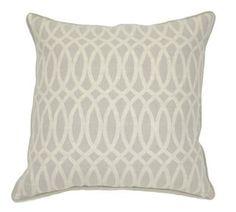 Geo 22x22 Linen Pillow, Natural