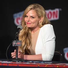 Jennifer Morrison attends ABC Network's 'Once Upon a Time Has Frozen Over!' panel during 2014 New York Comic Con Day 2 at Jacob Javitz Center on October 10, 2014 in New York City
