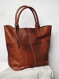 Legends of the Fall Tote | This luxe leather tote is perfect for everyday, and is just big enough to fit all of your precious belongings.  Open top.  *By Free People