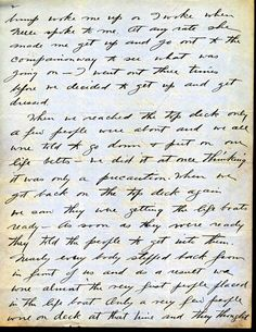 Letter John Snyder wrote after being rescued from the Titanic.  Page 2 of 4
